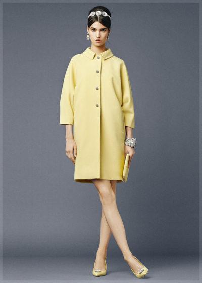 Прямое пальто из коллекции Dolce and Gabbana