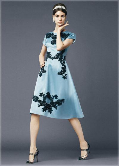 Платье А-силуэта из коллекции Dolce and Gabbana