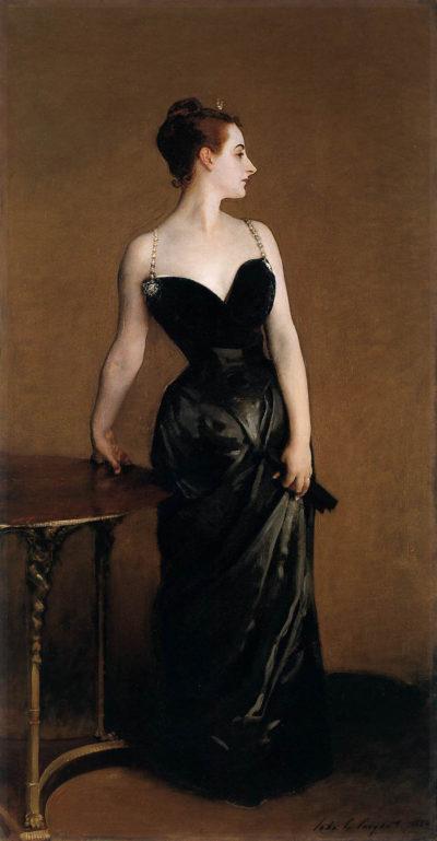 """Картина """"Портрет мадам Икс"""". Автор: Джон Сингер Сарджент. 1884 год"""