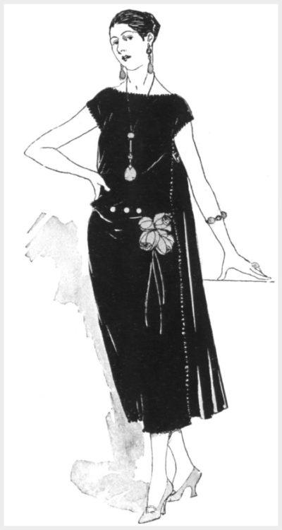 Маленькое черное платье от Дженни в журнале Vogue, 1922 год