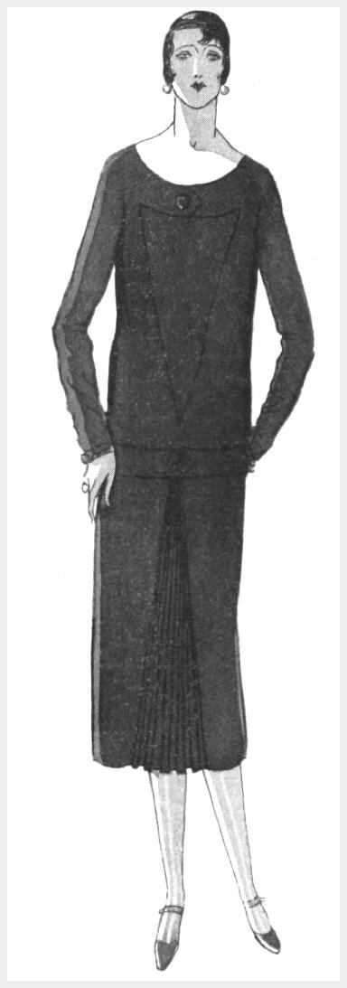 Маленькое черное платье от Дженни, 1925 год