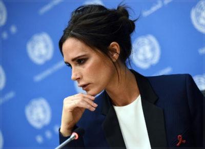 Виктория Бекхэм в синем