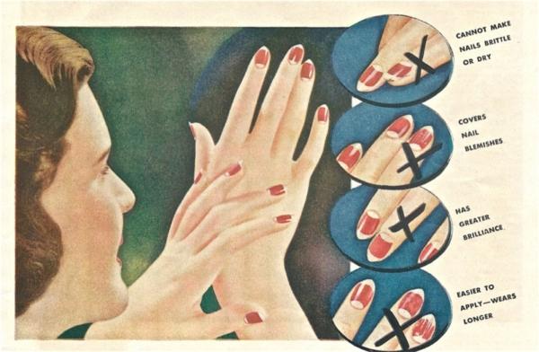 Реклама лака в журналах первой половины 20 века