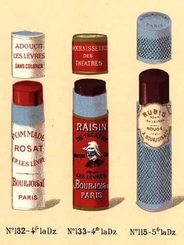 Театральный макияж в форме палочек, Bourjois, 1900 год