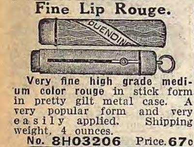 Реклама помады в металлическом тюбике из каталога Sears Roebuck And Co, 1911