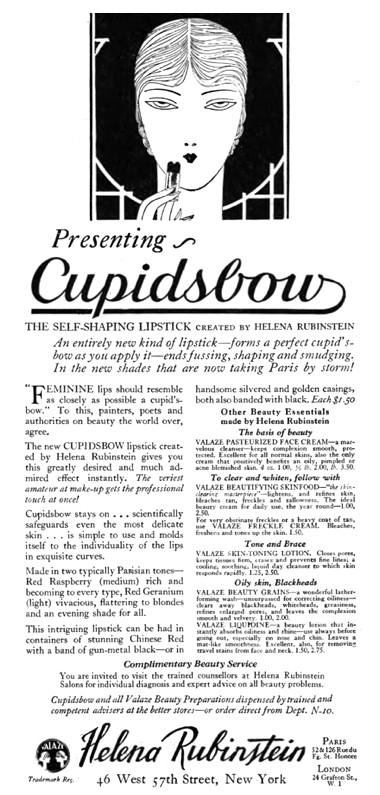 Реклама помады Хелены Рубенштейн, 1926