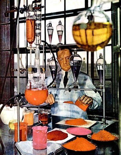 Процесс создания новых оттенков помады, 1947