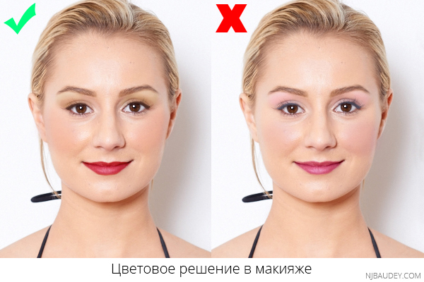 Цветовое решение в макияже