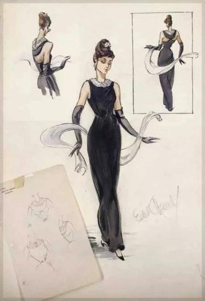 Эскиз платья, созданный Эдит Хэд