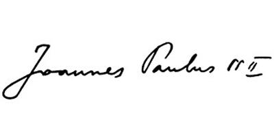 Подпись Иоанна Павла Второго