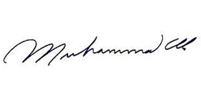 Подпись Мохаммеда Али