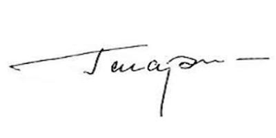 Подпись Юрия Гагарина