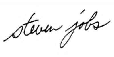 Подпись Стива Джобса