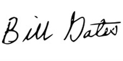Подпись Билла Гейтса