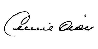 Подпись Селин Дион