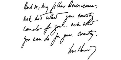 Подпись Джона Кеннеди