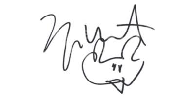 Подпись Канье Уэста