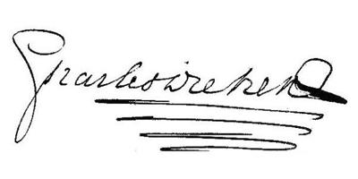 Подпись Чарльза Диккенса