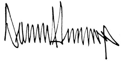 Подпись Дональда Трампа