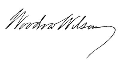 Подпись Вудро Вильсона