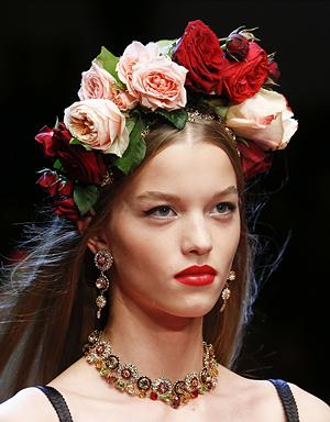 Крупные цветы, Dolce & Gabbana