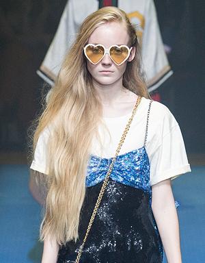 Очень длинные волосы, Gucci