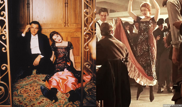 """Кораллово-черное вечернее платье Розы Дьюитт Бьюкейтер (Кейт Уинслет) из фильма """"Титаник"""" (1997 год)"""