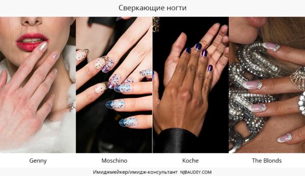 Сверкающие ногти