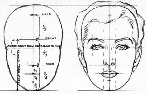 определение формы и особенностей лица