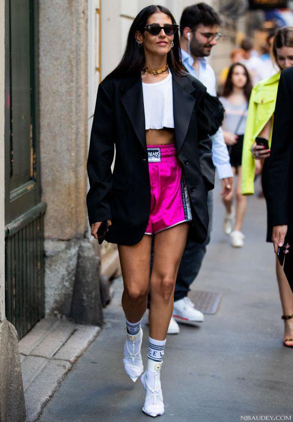 носки с босоножками спортивный образ