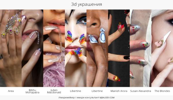 3d украшения модный маникюр весны-лета 2020