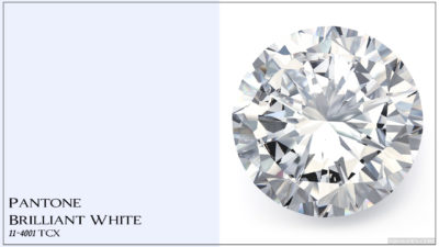 PANTONE 11-4001 Brilliant White Ослепительно белый (бриллиантовый белый, блестящий белый)