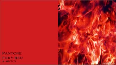 PANTONE 18-1664 Fiery Red Огненное-красный