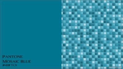 PANTONE 18-4528 Mosaic Blue Мозаичный синий (синяя мозаика)
