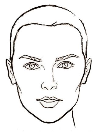 лицо перевернутый треугольник