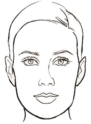 удлиненное лицо